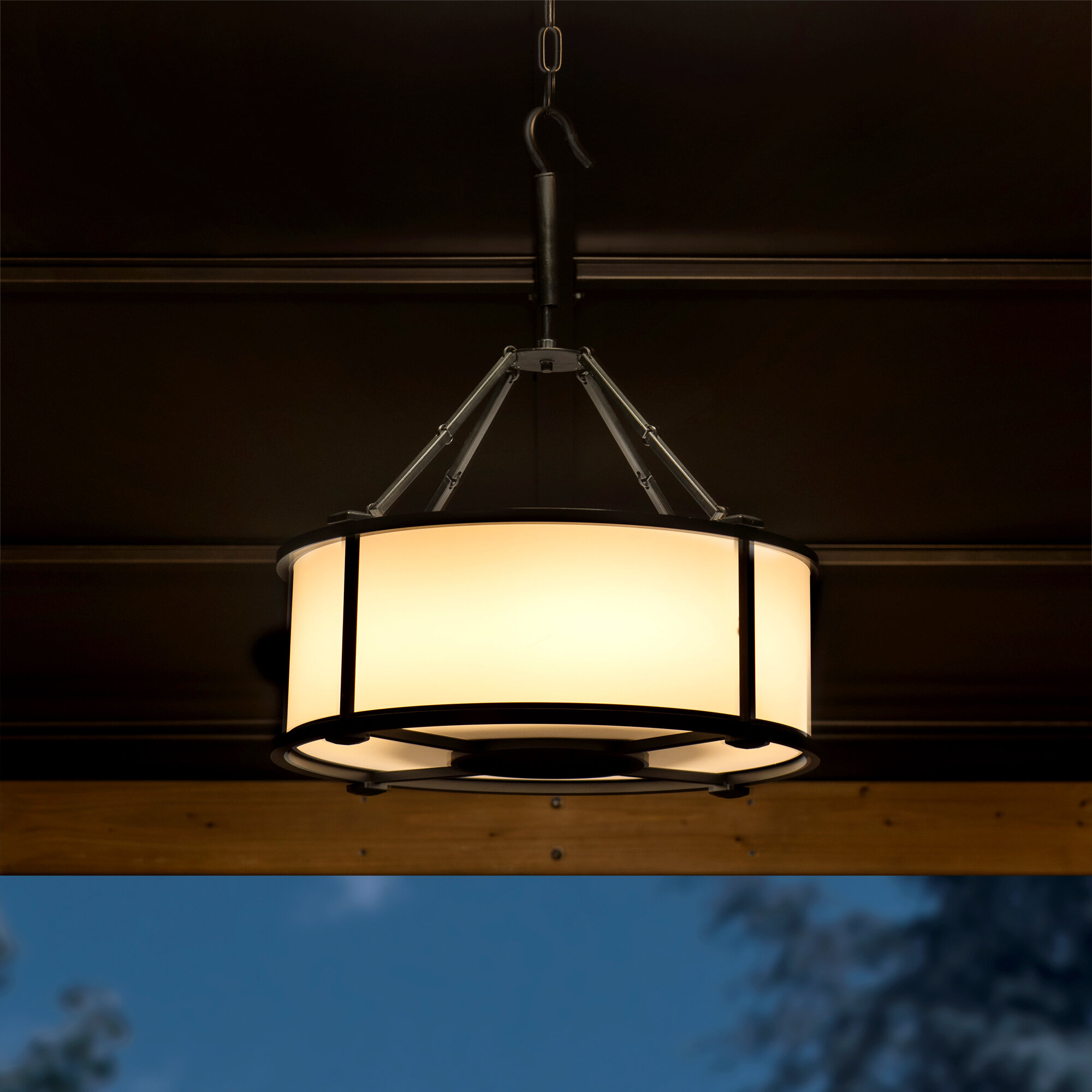 Sunjoy White Battery Powered Led Outdoor Hanging Light Reviews Wayfair