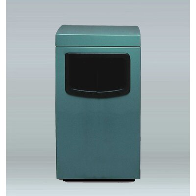 """Amber 30 Gallon Trash Bin Allied Molded Products Size: 44"""" H X 24"""" W X 24"""" D, Color: Bone, Configuration: Trash And Ash"""