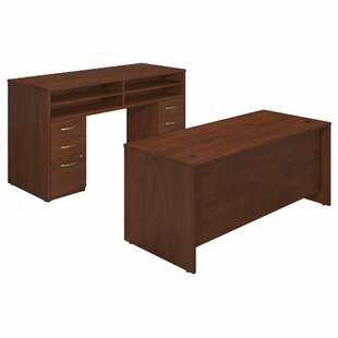Bush Business Furniture Series C Elite 2 Piece Desk Office Suite