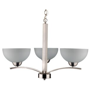 Mickayla 3-Light Shaded Chandelier by Whitfield Lighting