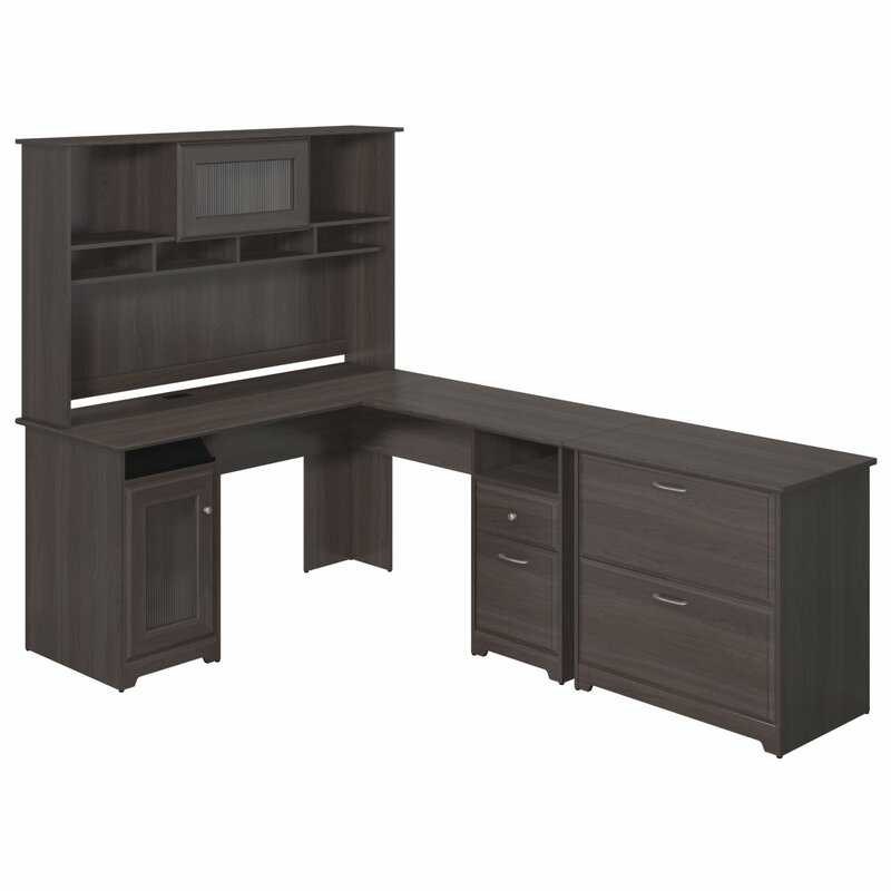 default_name - Red Barrel Studio Hillsdale L-Shape Desk With Hutch And Lateral