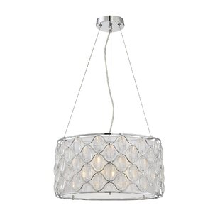 House of Hampton Neeson 3-Light Crystal Chandelier