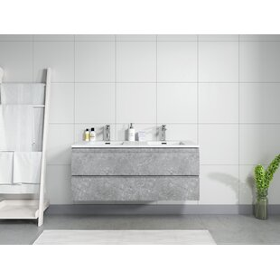 Trente 120mm Wall Hung Double Vanity Unit By Ebern Designs