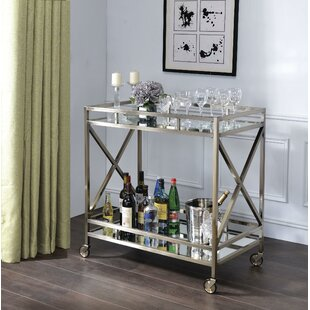 Escobar Metal Framed 2 Tier Bar Cart by Rosdorf Park