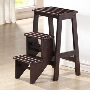 Exceptional 3 Step Wood Step Stool