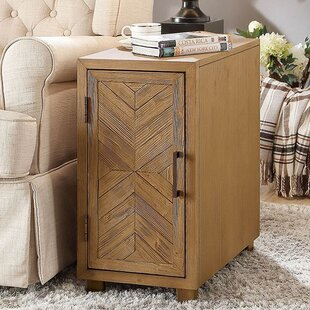 Union Rustic Amicia Transitional End Table with Storage