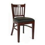 Slatback Solid Wood Side Chair in Dark Mahogany (Set of 2) by Benkel Seating