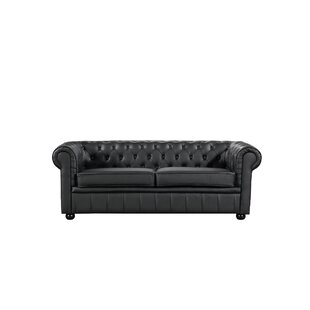 Russell Leather Chesterfield Sofa