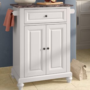 Leonard Kitchen Cart with Faux Marble Top