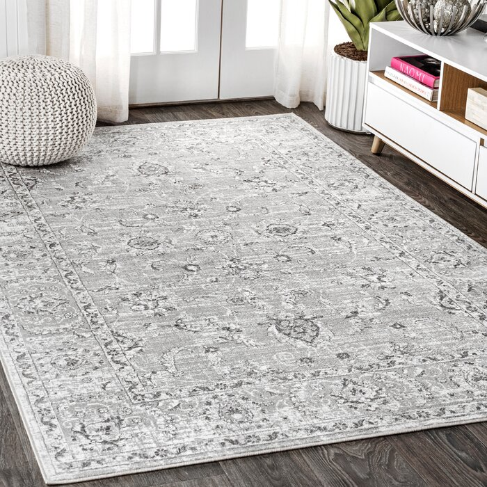 Laxton Modern Persian Vintage Light Gray Area Rug