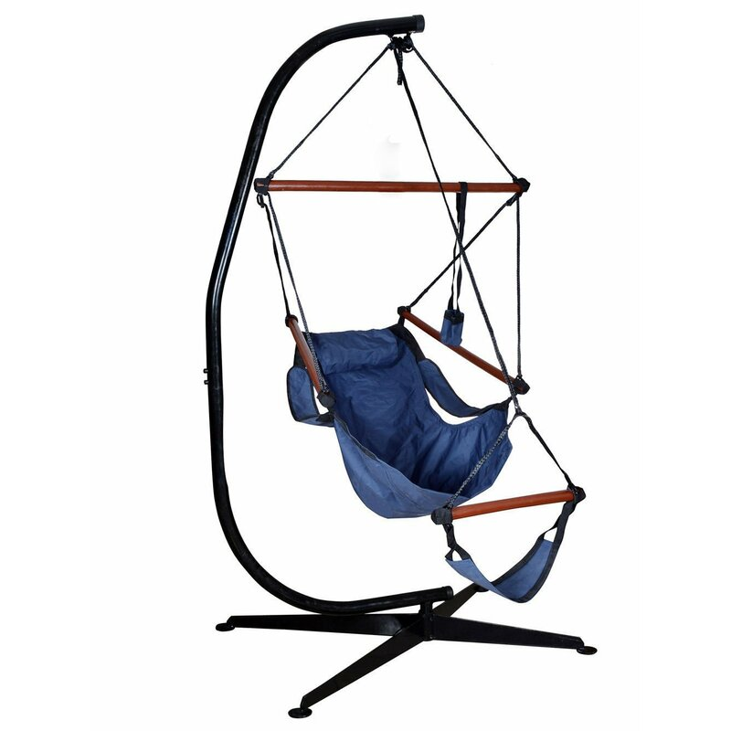Algrenon Solid C Frame Metal Hammock Chair Stand Reviews Joss Main