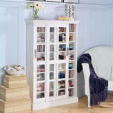 Sliding Doors White Cabinet Wayfair