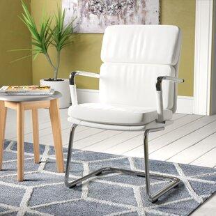 Deco Visitor Chair In White By Brayden Studio