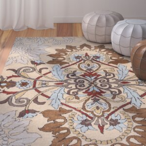 Andaluss Hand-Tufted Beige Area Rug