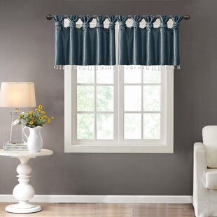 blue window valance seafoam green quickview teal blue valance wayfair
