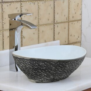 Elite Ceramic Oval Vessel Bathroom Sink By Elimaxs