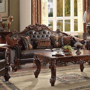 Leedom Leather Sofa Astoria Grand