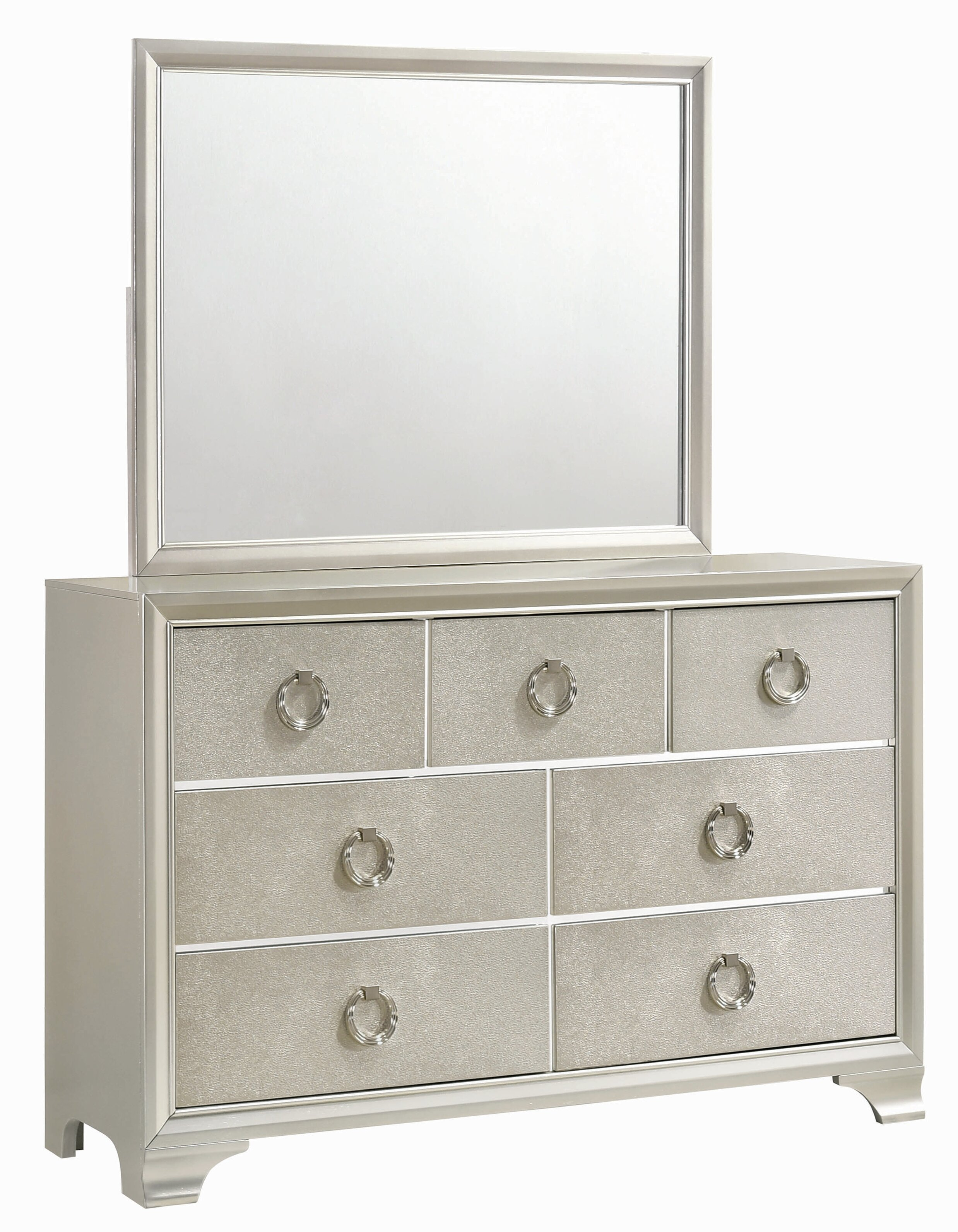 House Of Hampton Carpen 7 Drawer Double Dresser With Mirror Reviews Wayfair