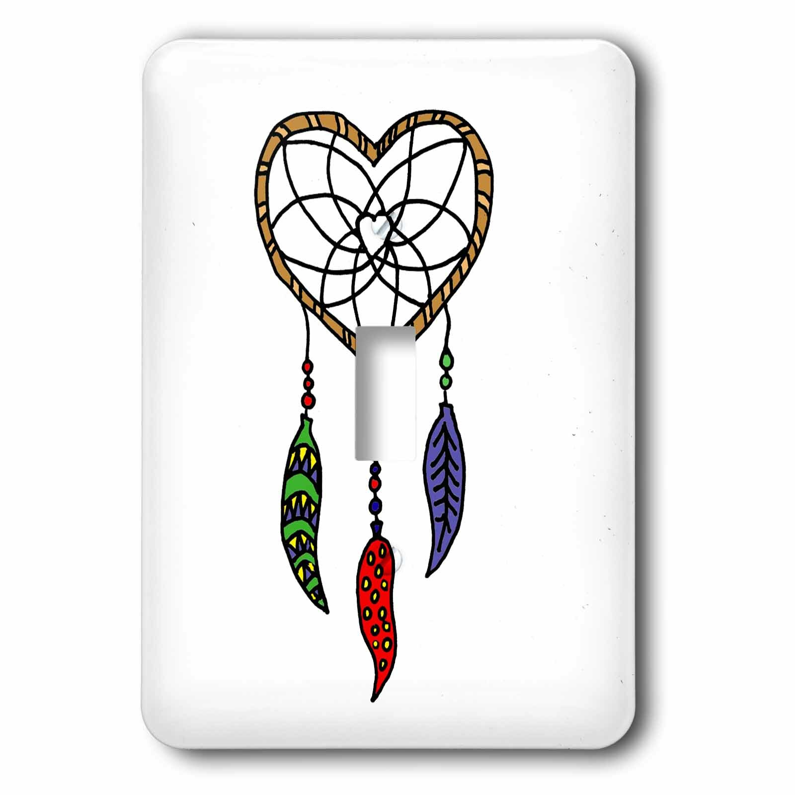 3drose Heart Shaped Dream Catcher 1 Gang Toggle Light Switch Wall Plate Wayfair