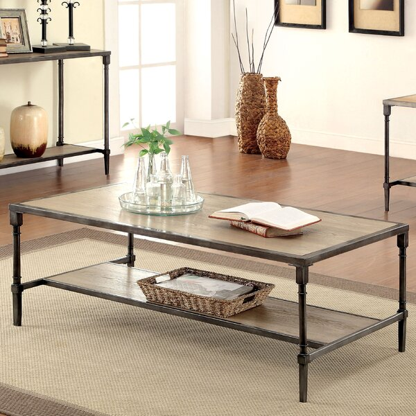 Industrial Storage Coffee Table Review: Laurel Foundry Modern Farmhouse Forrest Coffee Table