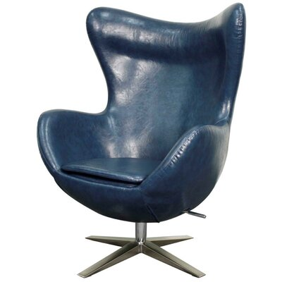 Brayden Studio Ledet Swivel Wingback Chair