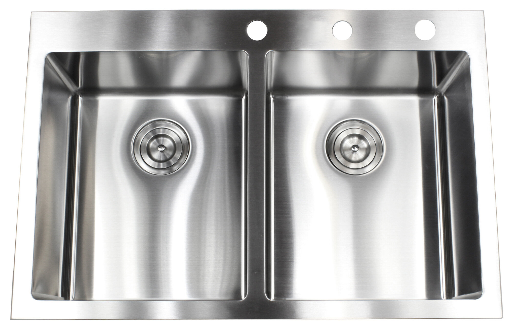 "3"" L x 3"" W Double Bowl Kitchen Sink"