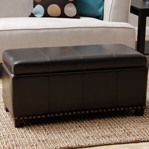 Edmond Faux Leather Storage Be..