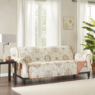 Floral Box Cushion Sofa Slipcover