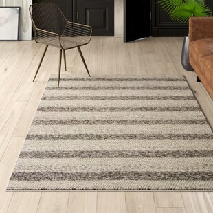 Creswell Hand-Tufted Wool Gray/White Area Rug