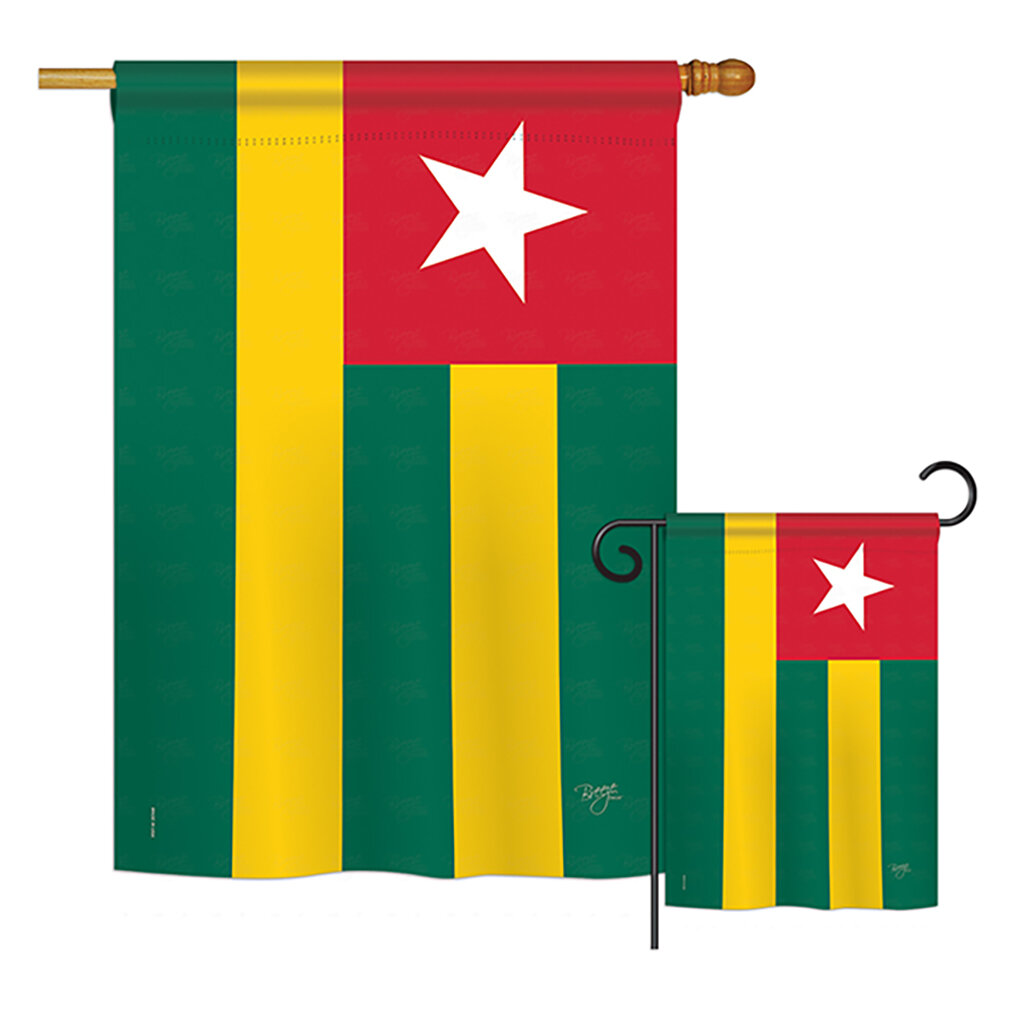 Breeze Decor Togo Of The World Nationality Impressions Decorative Vertical 2 Sided Polyester Flag Set Wayfair