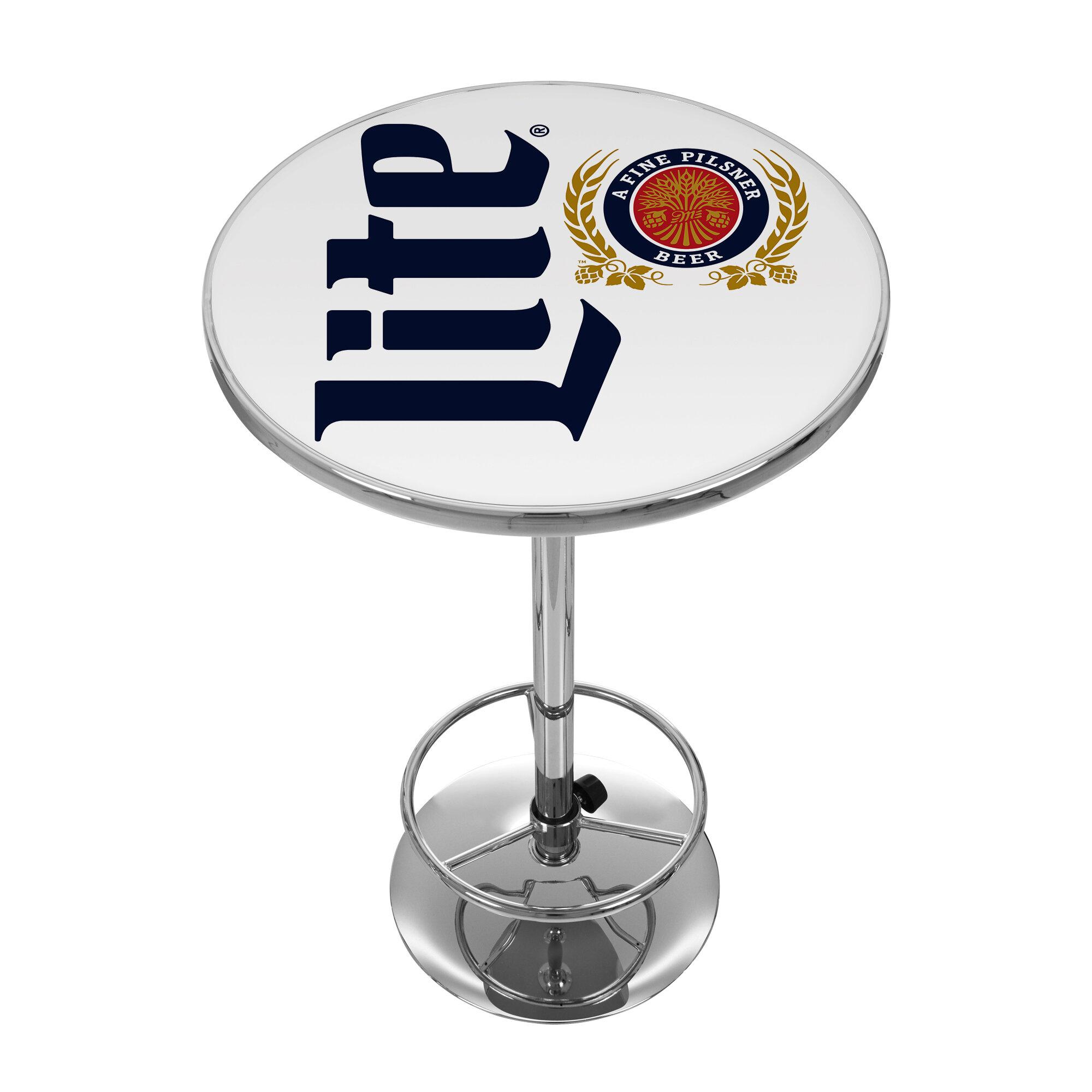 Trademark Global Miller Lite Retro Pub Table   Wayfair