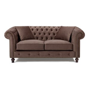 Microfiber Chesterfield Loveseat by Noci Design
