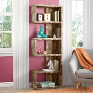 Review Frostia Standard Bookcase by Mercury Row