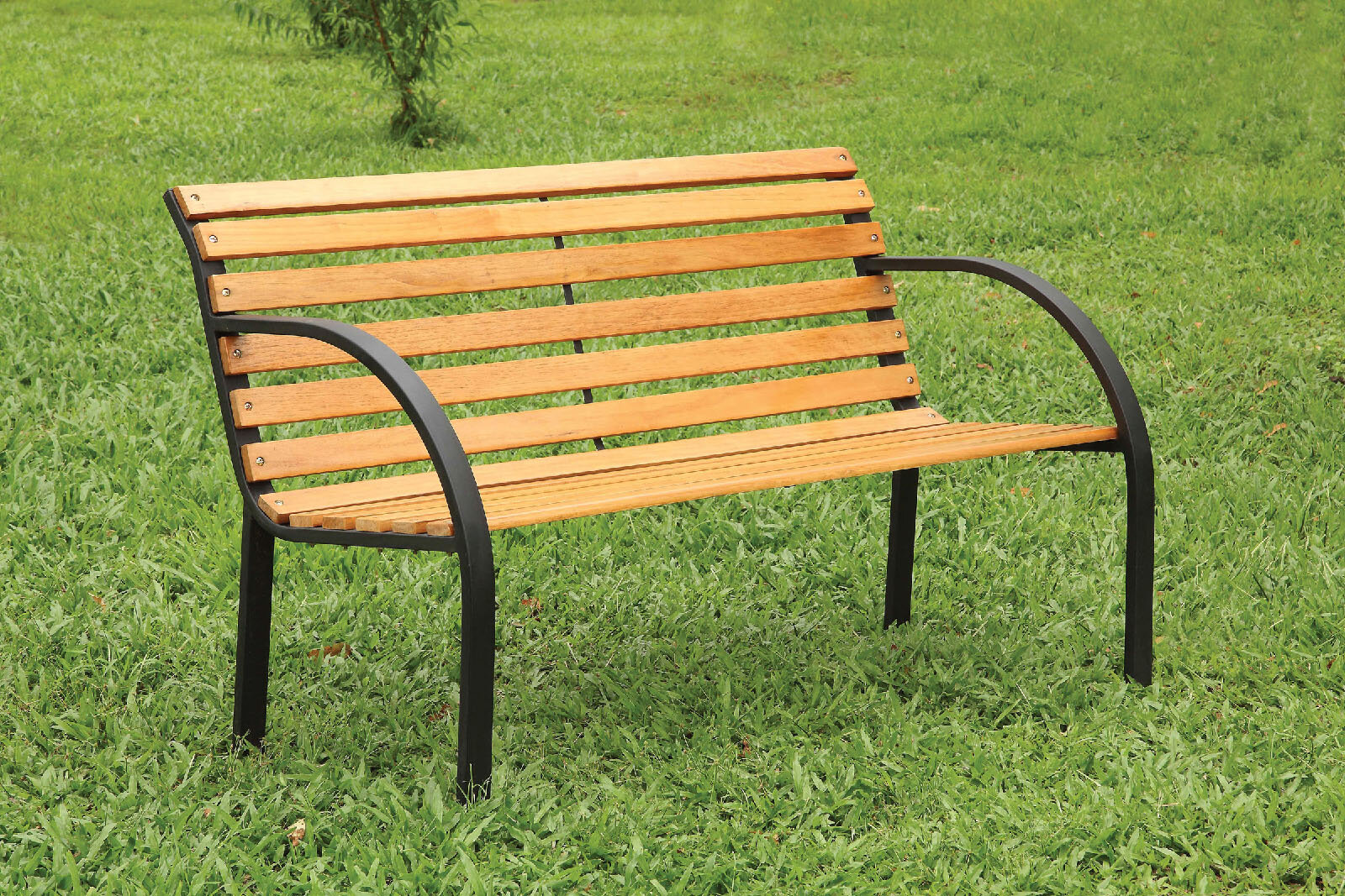 Millwood Pines Upper Vobster Patio Metal Park Bench Wayfair
