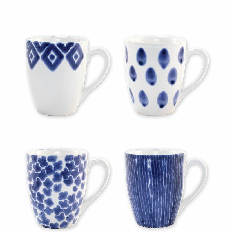 Vietri Viva Santorini Assorted 4 Piece Coffee Mug Set Reviews Wayfair