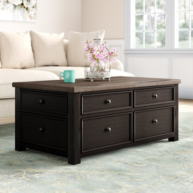 Canora Grey Edmore Coffee Table With Storage Reviews Wayfair