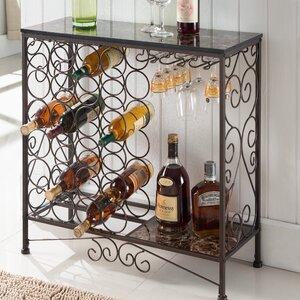 Floyd Metal Storage 24 Bottle Floor Wine Bottle Rack Darby Home Co