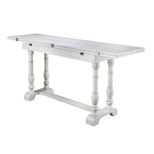 Lilian Farmhouse Folding Trestle Console To Dining Table