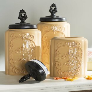 3 piece kitchen canister set - Kitchen Canister Sets