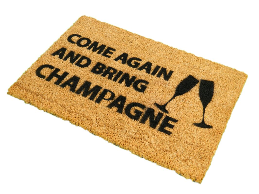 Artsy Doormats Come Again and Bring Champagne Doormat & Reviews ...