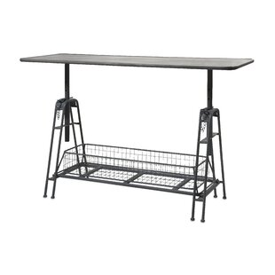 Meisner Adjustable Metal Work Console Table