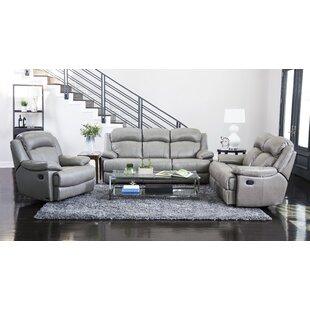 Andover Mills Arbor Glen Reclining 3 Piece Leather Living Room