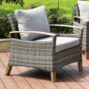 Piute Patio Chair with Cushion (Set of 2)