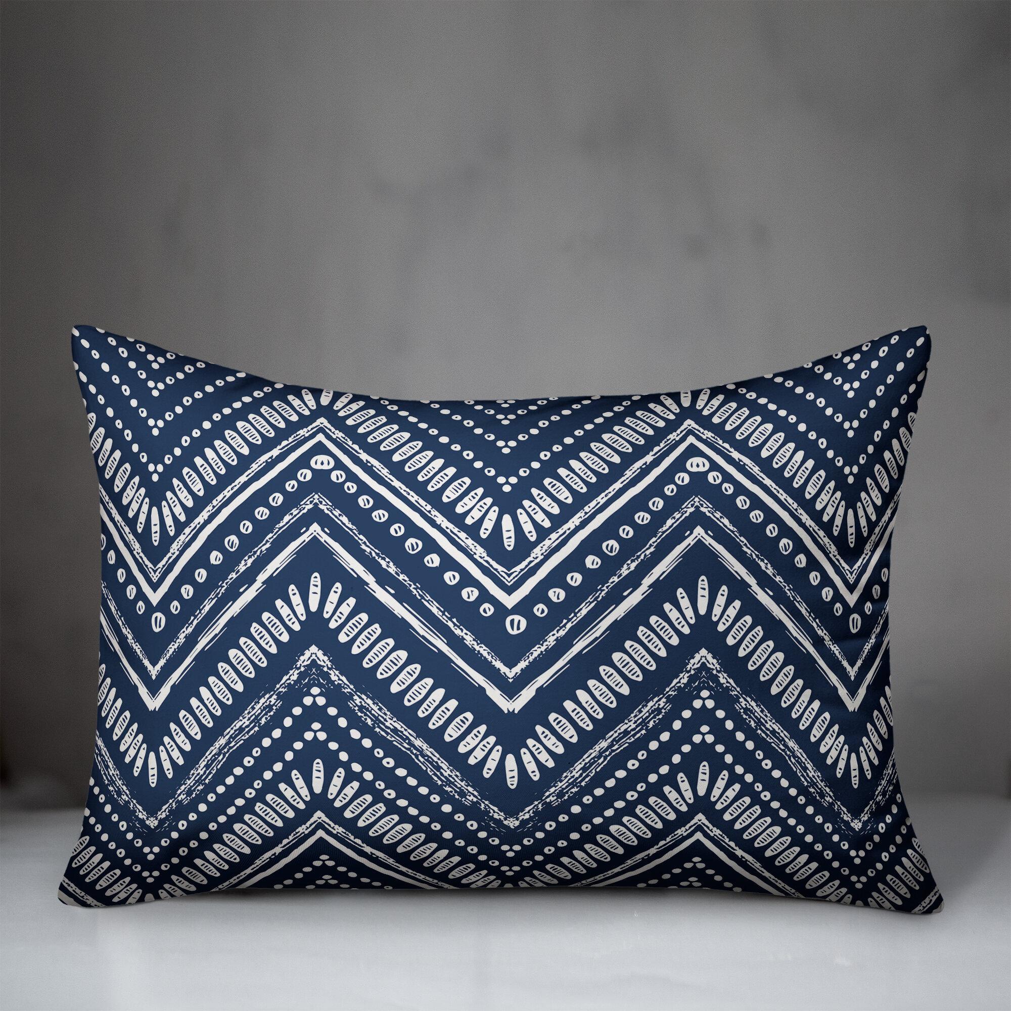 orbison boho chevron indoor outdoor lumbar pillow