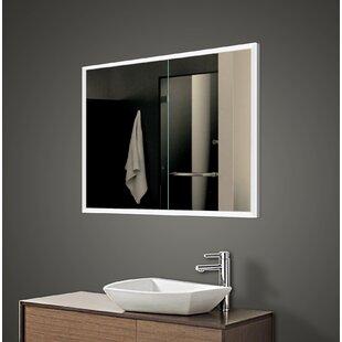 Inexpensive Alfredson 35.5 x 27.63 Recessed Framed Medicine Cabinet with 2 Adjustable Shelves and LED Lighting ByOrren Ellis