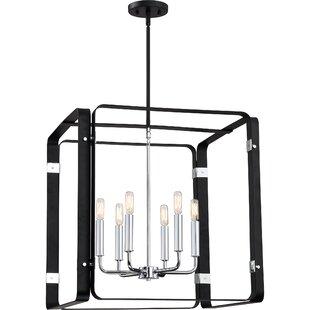 Orren Ellis Franklin 6-Light Square/Rectangle Pendant