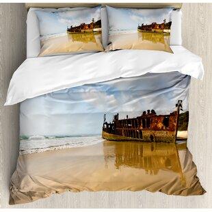 Power Source Beautiful 3d Golden Sea Mermaid And Pirate Ship Bed Set Girls Bedlinens Set Comforter Bedding Sets Duvet Cover Set King Size