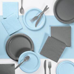 221 Piece Paper/Plastic Disposable Party Supplies Kit