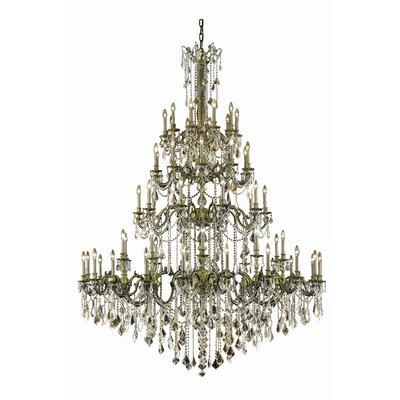 Utica 60 Light Candle Style Chandelier Astoria Grand Crystal Grade Swarovski Element Color Dark Bronze