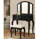 Barnhill Vanity Set with Stool with Mirror by Alcott Hill®
